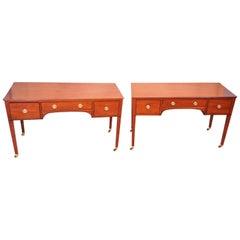 Antique Georgian Mahogany Pair of Dressing Tables