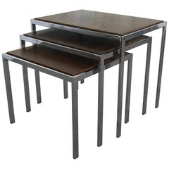 1960s Nesting Tables Turnable Tops by Cees Braakman for Pastoe