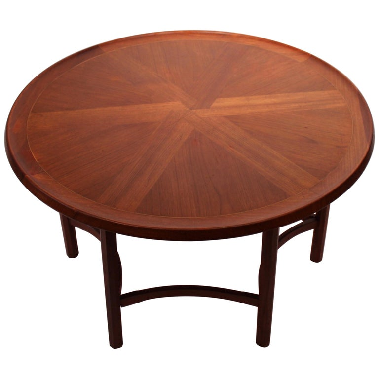 Round Coffee Table In Teak Of Danish Design From The 1960s