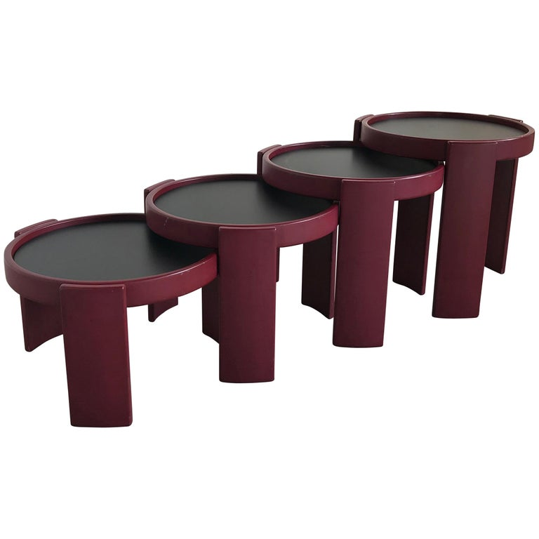 Midcentury Set of Reversible Stacking Tables by Gianfranco Frattini for Cassina