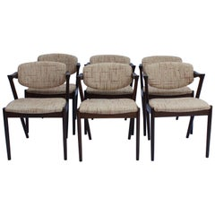 Set of 6 Dining Chairs, Model 42, Designed by Kai Kristiansen, 1960s