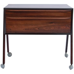 Small Work Table in Rosewood of Danish Design from the 1960s