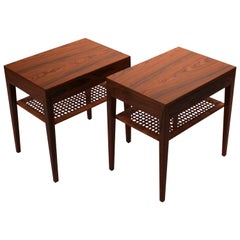 Set of Bedside Tables in Rosewood by Severin Hansen and Haslev, 1960s
