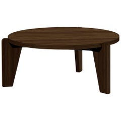 Jean Prouvé Guéridon Bas Coffee Table in Walnut for Vitra