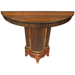 French Art Deco Exotic Macassar Ebony Console Tables, circa 1940s