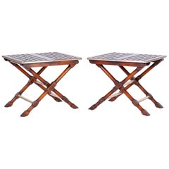 Pair of Yacht Style Folding Tables