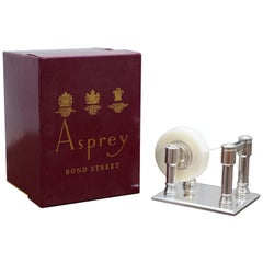 Rare Sterling Silver Asprey London Luxury Premium Tape Dispenser Original Box