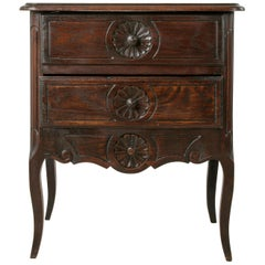 Early 20th Century French Louis XV Style Carved Oak Nightstand, or Chest
