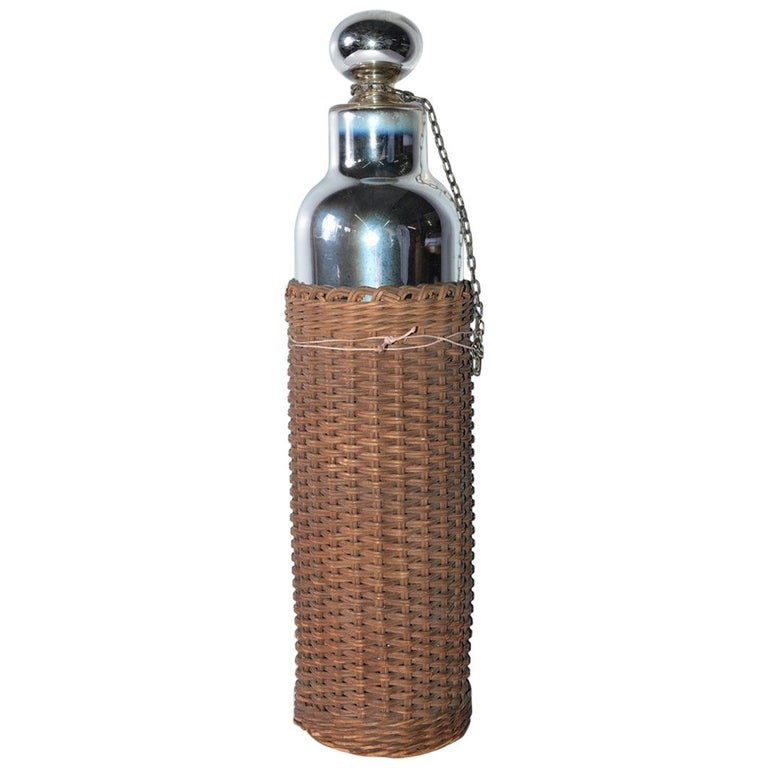 Mercury Glass Thermos Bottle For Sale
