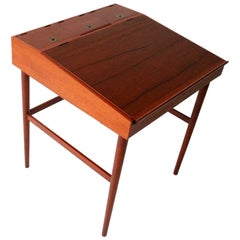 Finn Juhl NV40 Teak Writing Desk for Niels Vodder