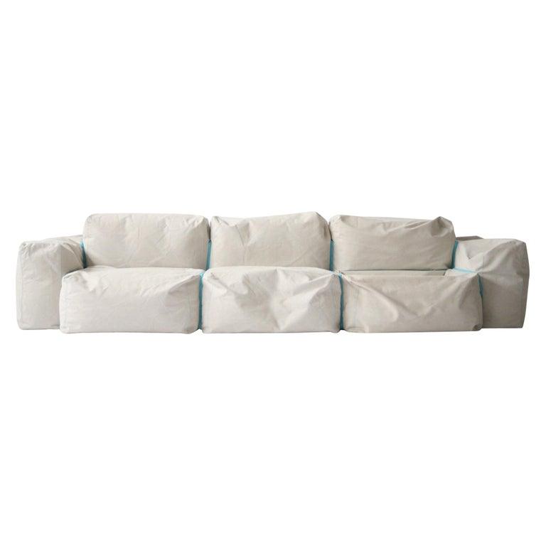 "Cappellini ""Superoblong"" Sofa and Ottoman Suite Designed by Jasper Morrison For Sale"