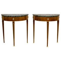 Two French Neoclassicistic Wall Tables/Console Tables, 19th Century