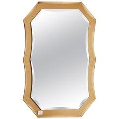 1970s Italian Murano Glass Mirror in Amber