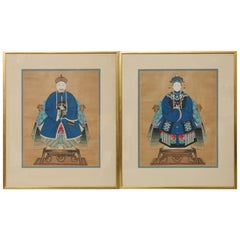 Pair of Chinese Ancestral Portraits