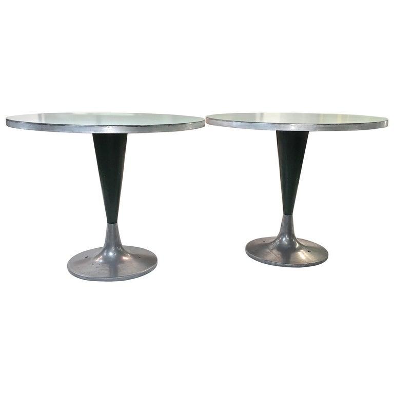 Vintage Brunswick Bowling Centre Pedestal Tables For Sale