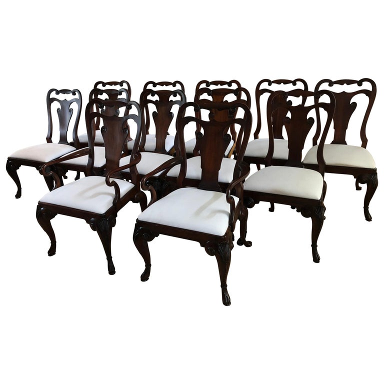 Set of 12 Classic Ralph Lauren for Henredon Dining Chairs For Sale