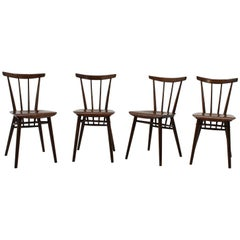 Set of Four Tatra Dining Chairs, Czechoslovakia, 1960