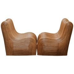 Pair of 20th Century Rattan Chairs