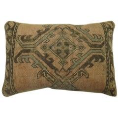 Antique Turkish Oushak Large Rug Pillow