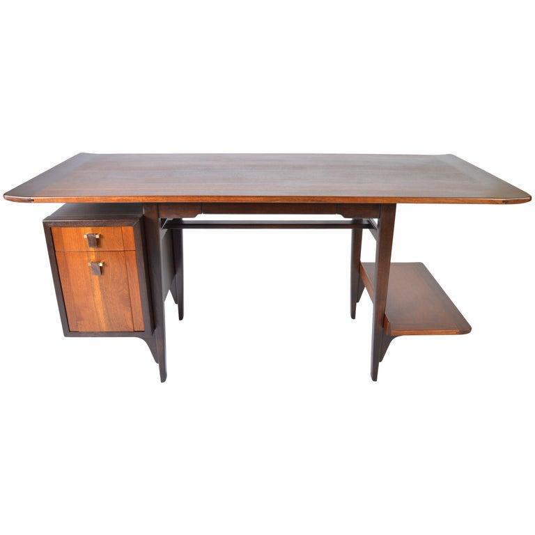 Edward Wormley Model 5735 Walnut & Rosewood Writing Desk for Dunbar, 1957