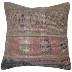 Pink Khotan Rug Pillow