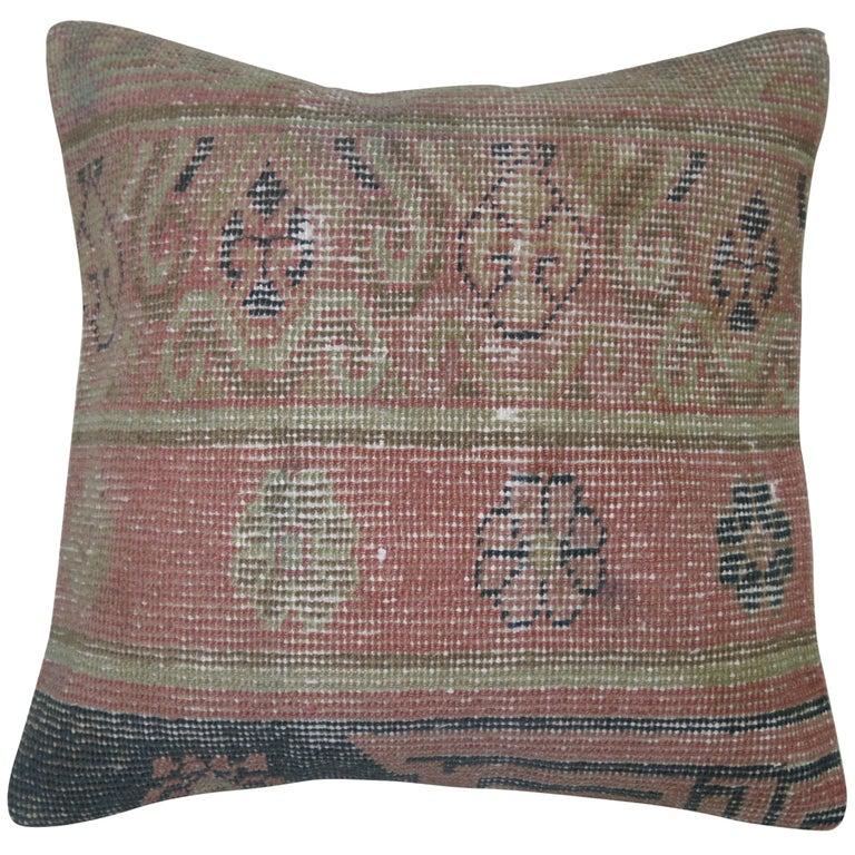 Pink Khotan Rug Pillow