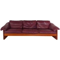 Danish Modern Teak and Leather Sofa Attributed to France & Son