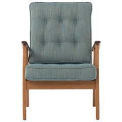 Danish Modern Teak and Oak Lounge Chair