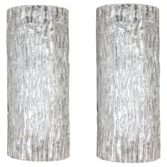 Pair of Italian Midcentury Sconces or Wall Lights by Barovier & Toso, 1970s
