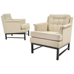 Edward Wormley Pair of Easy Chairs by Dunbar