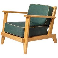 Historic and Elegant Armchair by René Gabriel French Designer, circa 1945