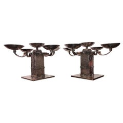 Pair of Candle Holders Done by Jean Despres
