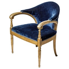 Important Art Deco French Desk Chair or Office Chair, circa 1930