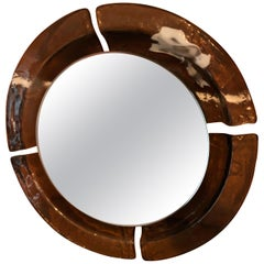 Vintage Murano Glass Mirror from Mazzega, Italy, 1970s