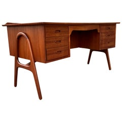 Sculptural Danish Modern Teak Desk by Svend Madsen