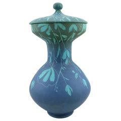 Uncommon Blue Italian Vase by Alvino Bagni for Raymor, Mid-Century Modern