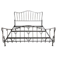 Claudio Rayes Eastern King Wrought Ieon Bed Framed