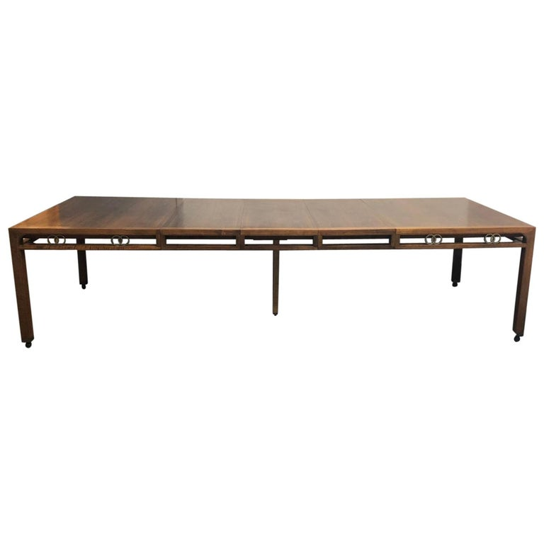 Michael Taylor Mahogany Dining Table for Baker, Far East Collection