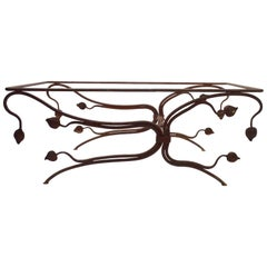 Foliate Motif Wrought Iron Table