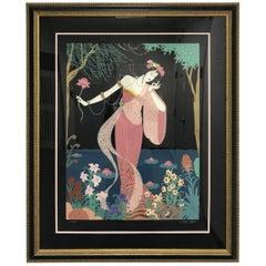 "Serigraph Print ""Demure Spirit"" by Lillian Shao"