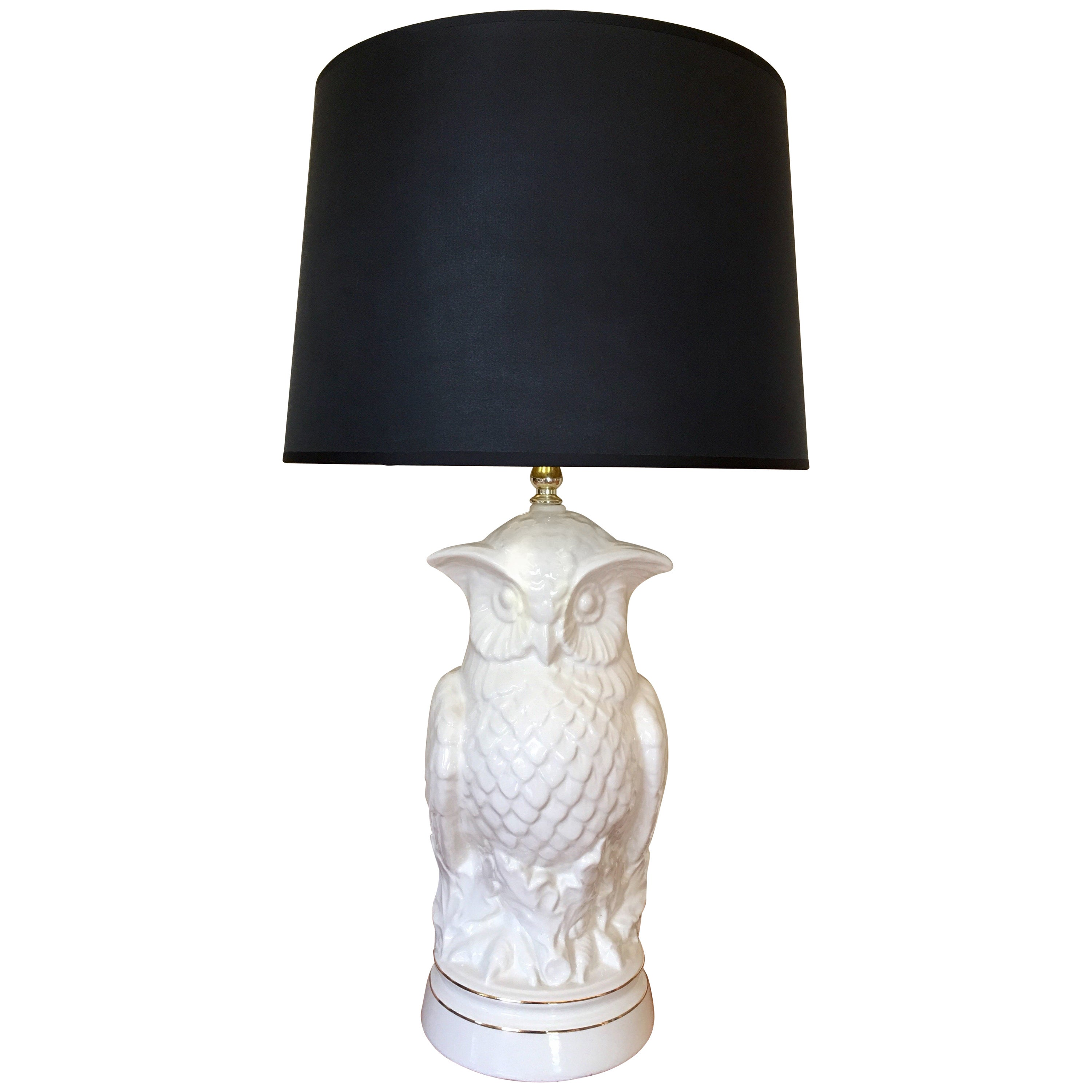 Mid-Century Modern Sculptural Owl Table Lamp