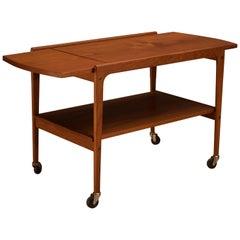 Scandinavian Teak Expandable Bar Cart