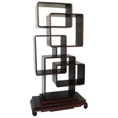 Unique Chinese Ming Style Scholar's Display Shelf / Room Divider