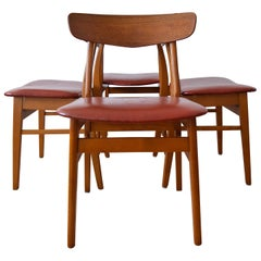 Danish Teak and Beech Dining Chairs from Farstrup, 1960s