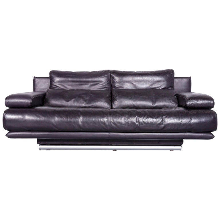 Rolf Benz 6500 Designer Sofa Blue Three Seat Modern at 1stdibs