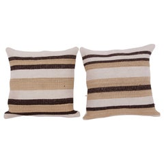 Cushion Covers or Pillows Fashioned from a Mid-20th Century Anatolian Hemp Kilim