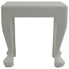 Vintage John Dickinson Style White Plaster Occasional Table