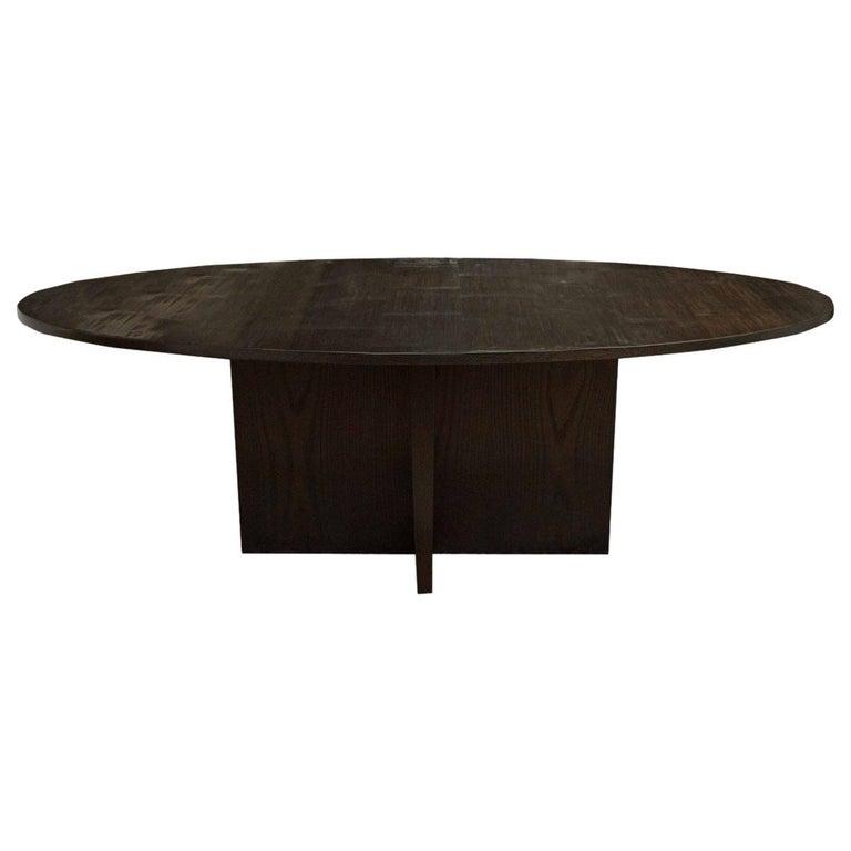 Wyeth Split Bamboo Oval Dining Table