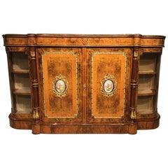 Burr Walnut, Amboyna and Ormolu-Mounted Victorian Period Cabinet