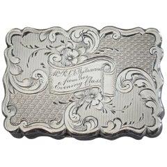 "Victorian Silver Vinaigrette ""A Present For Mrs Spottiswood Birmingham, 1863"